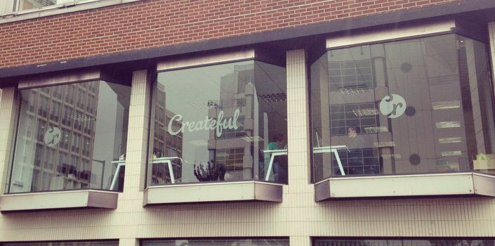 Createful office windows